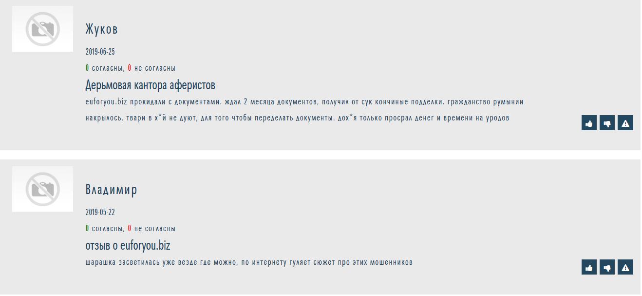 отзывы о компании euforyou.biz