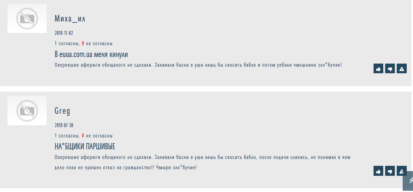 Отзыв о EUUA на otzyvy.org.ua