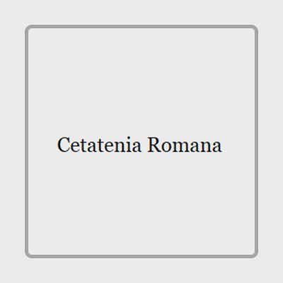Отзывы о Cetatenia Romana